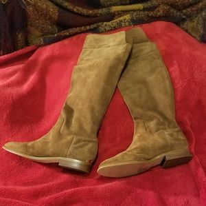 MICHAEL KORS REGINA OTK Suede Pull On Riding Boot